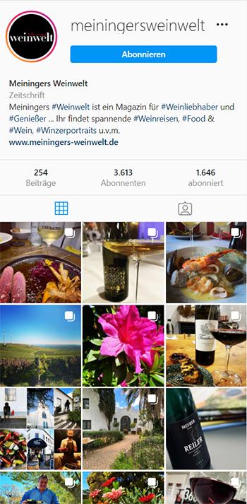 Instagram Weinwelt