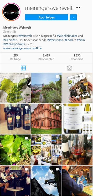 Weinwelt Instagram
